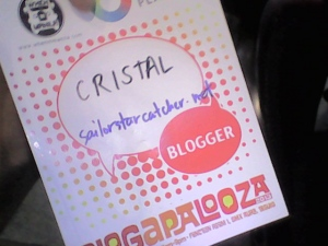 My Blogapalooza pass!