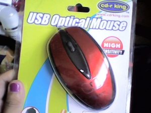 Optical mouse that I got from Gukka.com's pick-a-prize