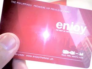 Enjoy Philippines membership card