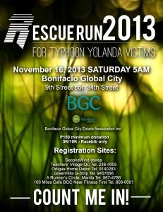 Rescue Run 2013 - for Typhoon Yolanda Victims